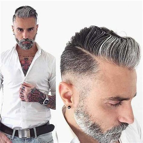 2017 S Hairstyles For Grey Hair by Grey Hair Color On Coolest Guys On Planet Mens