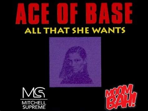 all that she wants ace of base all that she wants mitchellsupreme