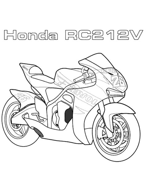 motorbikes coloring page 9 to print or download for free