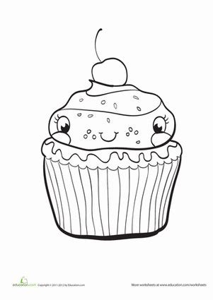 preschool coloring pages cupcakes cupcake worksheet education com