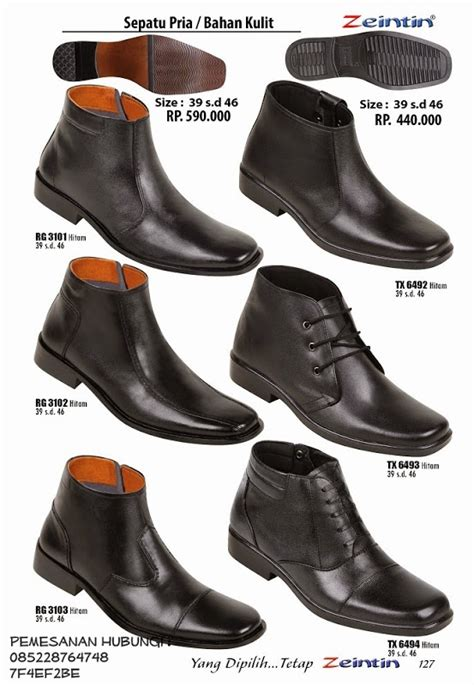 Azcost Original Safety Low Boot Sneakers Kulit Asli Steel Toe 3 tas sepatu model sepatu kulit pria
