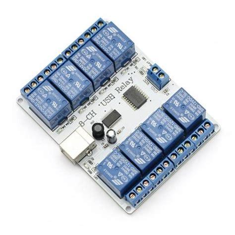 Modul Relay 8 Ch 8 channel 12v usb relay module sainsmart