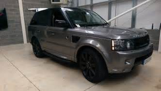 matte black range rover sport hse vinyl wrapping window