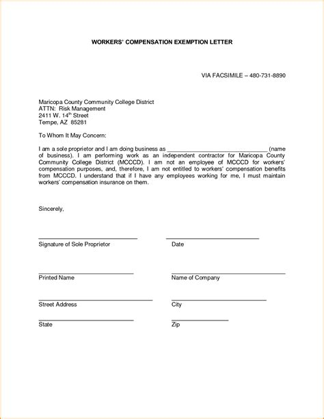 Workers Compensation Letter To Employee Mamiihondenk Org Workers Compensation Letter Template