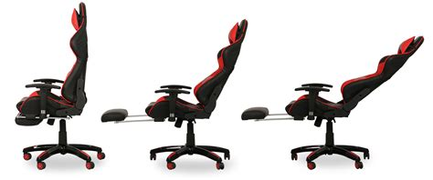 Cing Chair With Footrest by As Is Clearance Javan Racing Chair With Footrest Black