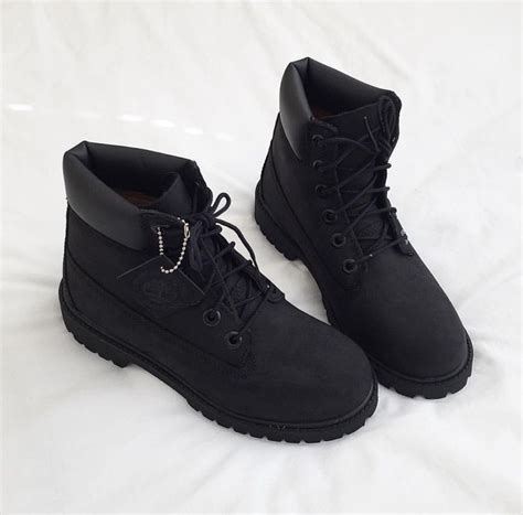 matte black boots all black timberlands shoe cravings