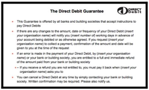 direct debit cancellation letter templates what is the layout for the standard advance notice letter