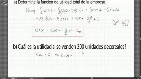 calculo del ingreso marginal youtube ejercicio resuelto de utilidad marginal youtube