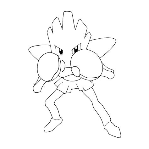 pokemon coloring pages hitmonchan hitmonchan coloring pages for kids