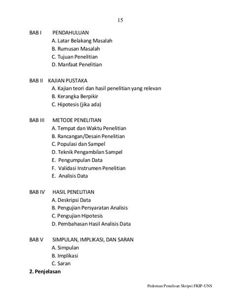 format skripsi bab 2 pedoman skripsi bab i v r 1