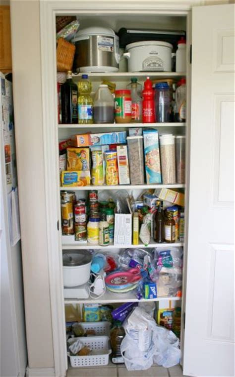 Closet Food by Cleaning The Pantry Closet Make And Takes