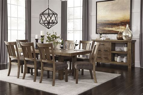 brown dining room set tamilo gray brown rectangular extendable dining room set