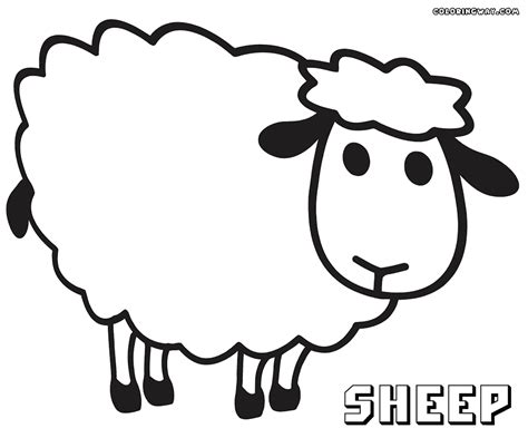 sheep coloring pages coloring pages to download and print
