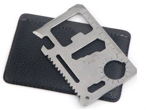 stainless steel multi tool card survival tool 11 in 1 emergency survival pocket knife