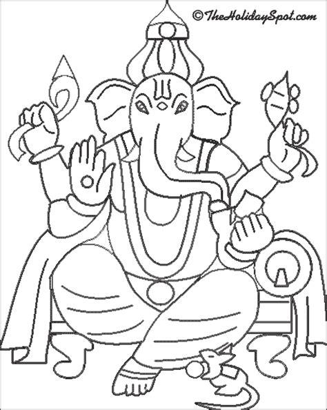 Ganpati Coloring Pages ganesh chaturthi pictures to color