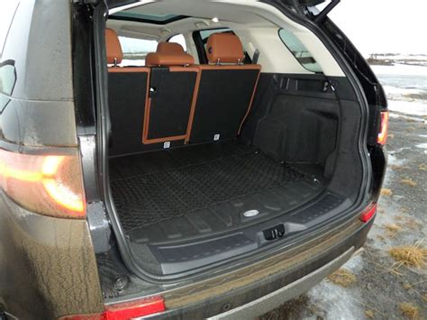 land rover discovery sport trunk space 2015 land rover discovery sport test drive in iceland