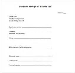 tax receipt for donation template tax receipt template 5 free word excel pdf format