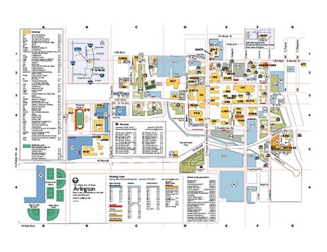 map of university of texas uta cus map cyndiimenna