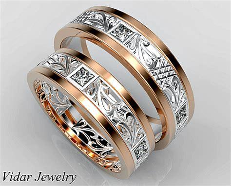 Wedding Rings Matching Sets by Princess Cut Matching Wedding Ring Set Vidar