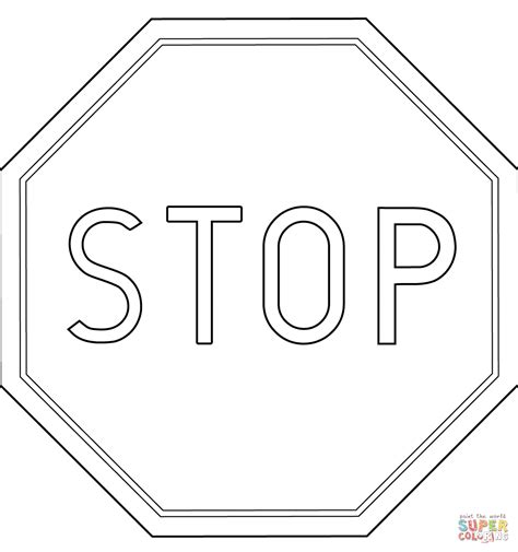 Stop Sign Coloring Pages Coloring Home Stoplight Coloring Page