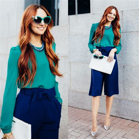 Umbrella Cullotes jackie welling forever 21 teal blouse