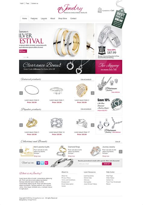 jewelry website template free style guru fashion glitz