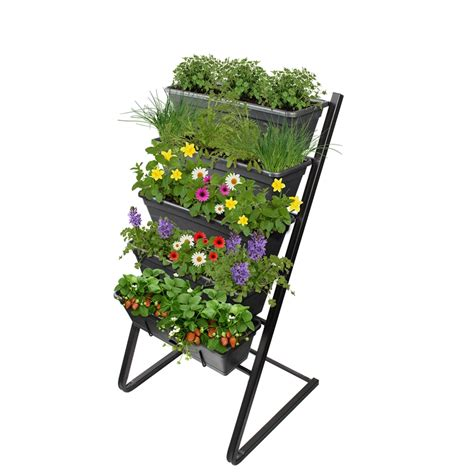 whites outdoor garden up freestanding vertical garden