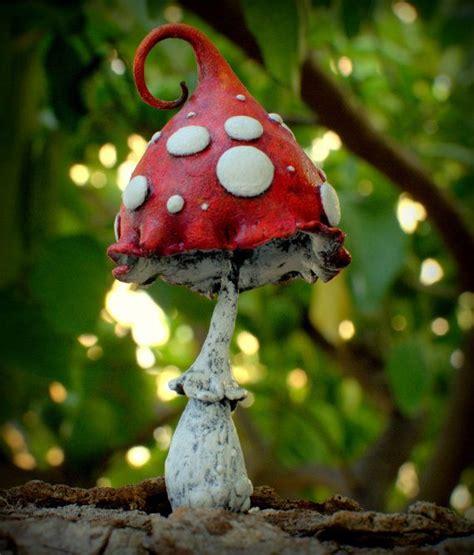 mushroom home decor mama red white amanita fantasy mushroom polymer clay