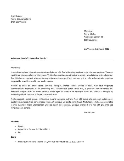 Présentation Lettre De Correspondance Exemple Correspondance
