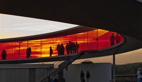 the colored section danish art museum aros rainbow halo illuminated with