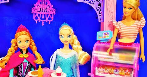 film izle elsa ve anna barbie malibu cafe frozen anna elsa evciliktv oyuncak