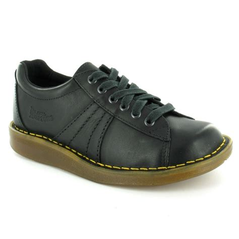 Arlaine Mirage Flat Shoes Black dr martens mel womens mirage leather 6 eyelet lace up