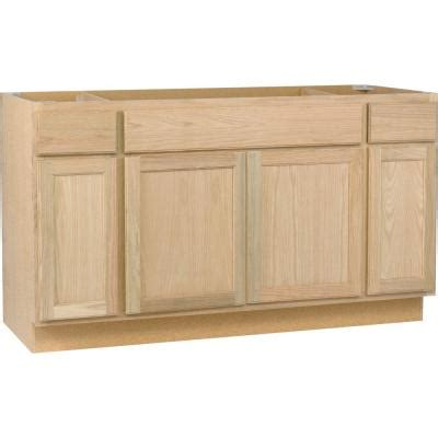 Kitchen Base Cabinets Home Depot | hton bay 60x34 5x24 in sink base cabinet in unfinished