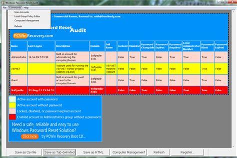 windows reset password utility windows password reset audit download