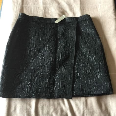 black origami skirt 55 j crew dresses skirts j crew black metallic