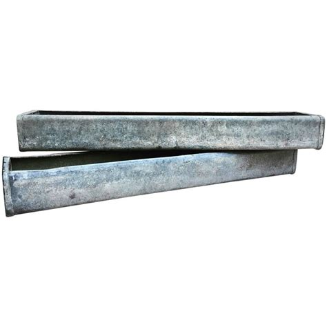 galvanized trough planters vintage zink galvanized planter trough at 1stdibs