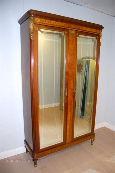 armoire wardrobe mirrored doors french armoire wardrobe with mirrored doors antiques atlas