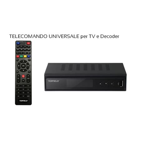 universal digitale terrestre elettronica tv digitale terrestre topfield dvbt2 hevc