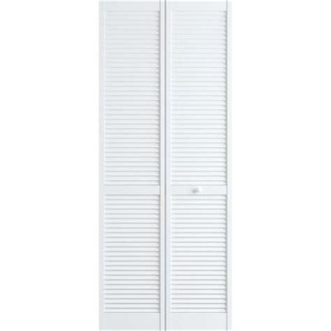 30 X 78 Interior Door Frameport 30 In X 78 In Louver Pine White Interior Closet Bi Fold Door 3115038 The Home Depot