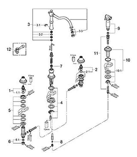 hansgrohe kitchen faucet parts diagram wow blog