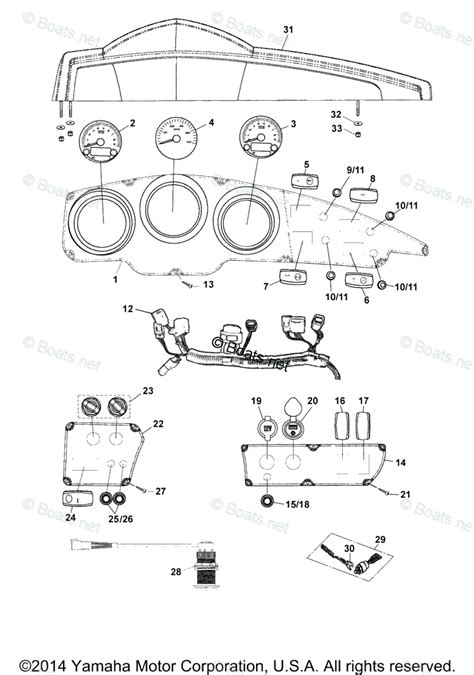 boats net yamaha parts yamaha boat parts 2013 oem parts diagram for electrical 4