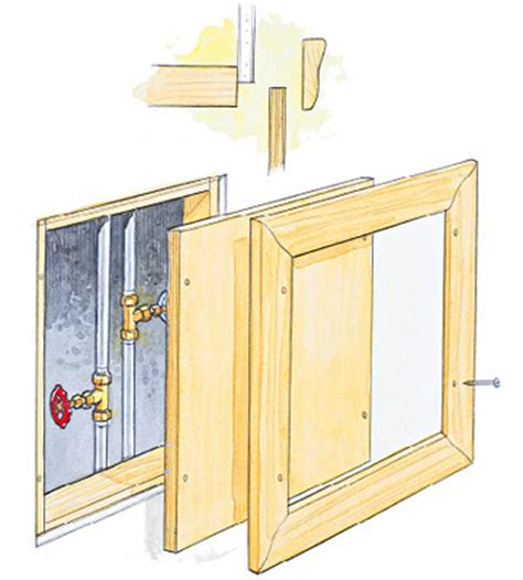Plumbing Access Door by How To Drywall Access Panels Advanced Techniques