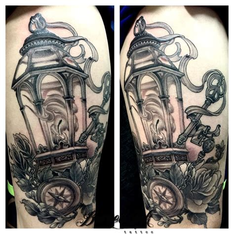 black lantern tattoo neo traditional lantern