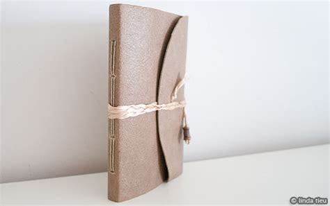 Handmade Leather Journal Tutorial - do you of any websites or exles of