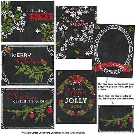 chalkboard card templates printable card set chalkboard