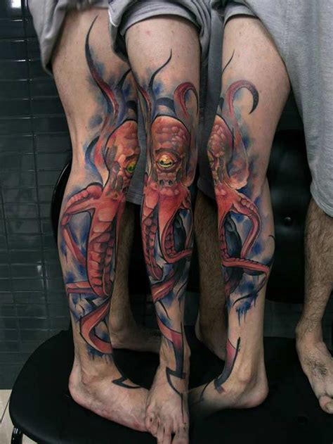 octopus leg tattoo 40 fascinating squid and octopus designs tattooblend