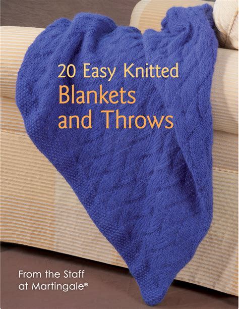 Knitting Patterns For Rugs Throws by 20 Easy Knitted Blankets Throws