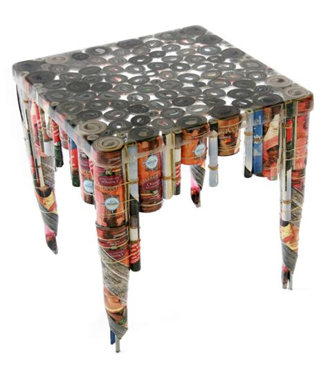 things made out of recycled materials table made from recycled stuff