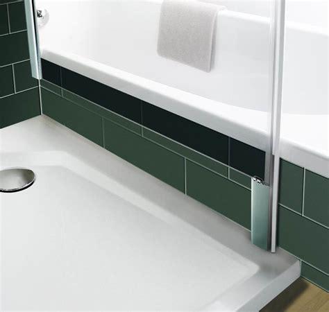 badewanne trennwand badewanne trennwand mit seitenwand glasaufsatz f r die