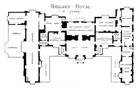 floor plan of house of commons file plan of holland house 1875 first floor png